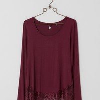 BKE Boutique Raw Edge Top