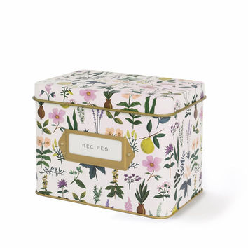 Herb Garden Recipe Box and Cards