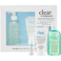 philosophy Clear & Balanced Advanced, Fast-Acting Acne System