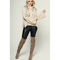 Rock It Knitted Sweater (Oatmeal)
