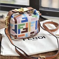 Fendi Canvas Messenger Bag, Hand Messenger Bag