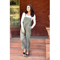 3911 cropped hemp and organic cotton overalls