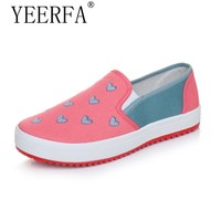 YIERFA Hot 2017 new Cute High Quality Women Loafers Shoes Flat with Slip-ons Leisure Shoes Spring Autumn Shoes Woman