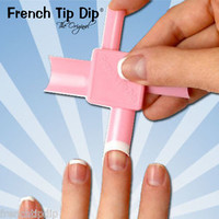 2 pack: French Tip Dip French Manicure kit sample. Use any nail polish!  HSN QVC