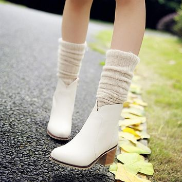 Ankle Boots Thick Heels Women Shoes Fall|Winter 3395