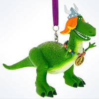 Disney Parks Toy Story Rex Viking Christmas Ornament New with Tags