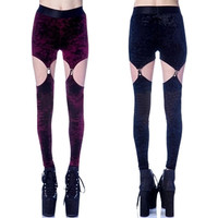 Velvet Garter Leggings