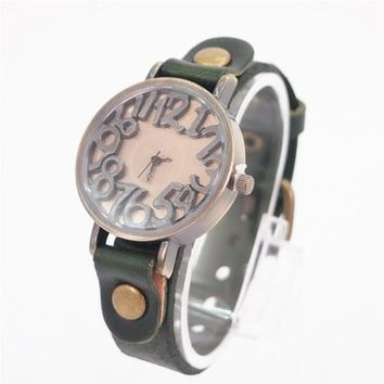 Green Cow Leather Belt Watch 52 DP 0604