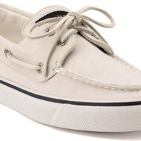 Sperry Top-Sider Bahama Canvas 2-Eye Boat Shoe White, Size 9.5M  Women's Shoes