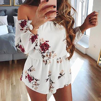 Sexy Off Shoulder Backless Rompers