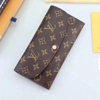Lv Louis Vuitton Monogram Canvas Emilie Wallet - Best Deal Online