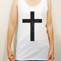 Jesus Shirts Black Inverted Cross Shirts Symbol Shirts Unisex Shirts Women Shirts Singlet Vest Women Tank Top Tunic Women - Size S M L