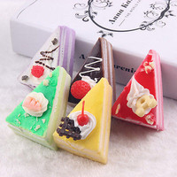 Soft Cake Squishy Charm Bread Cellphone Bag Key Chain Strap Decoration EW