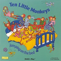 Ten Little Monkeys Jumping on the Bed Classic Books With Holes