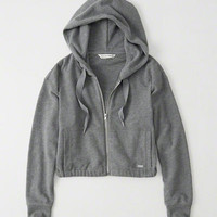 Womens Cropped Full-Zip Hoodie | Womens Tops | Abercrombie.com