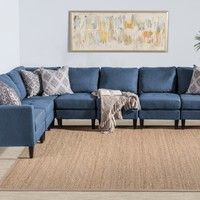 Carolina 7 Piece Versatile Fabric Sectional Couch