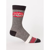 Certified Pain In The Ass Men's Crew Socks in Athletic Gray