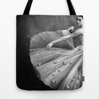 White Morning - graphite pencil drawing Tote Bag by Thubakabra