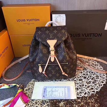 LV Louis Vuitton WOMEN'S MONOGRAM CANVAS Sperone BACKPACK BAG