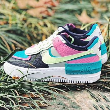 NIKE Air Force 1 Low New fashion hook couple hit color shoes