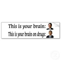 This is Your Brain, This your Brain on Drugs Obama Bumper Sticker from Zazzle.com
