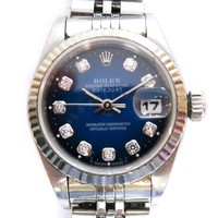 Rolex Datejust Watch Steel Dark Blue Automatic 69174G