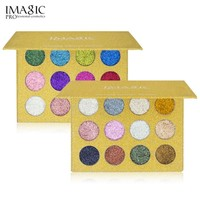 New Arrival 12color Glitter Eye Shadow Bright Rainbow Pearl Granules Glitters Diamond Eye Shadows Cosmetic Makeup Eyeshadow W1