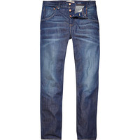 River Island MensMid wash Dean straight jeans