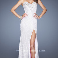 Sequin Covered Strapless Dress