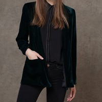 Velvet blazer - JACKETS - WOMAN | Stradivarius Republic of Ireland