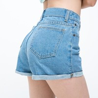 Vintage High Waist Crimping Denim Shorts Women 2017 Europe Style New Fashion Brand Slim Casual Femme Short Jeans Mujer Plus Size