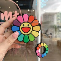 Rainbow Sunflower Smiley Face Protective Airpod Case