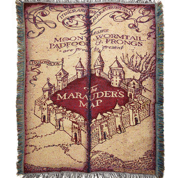 Harry Potter Marauder's Map Woven Tapestry Throw