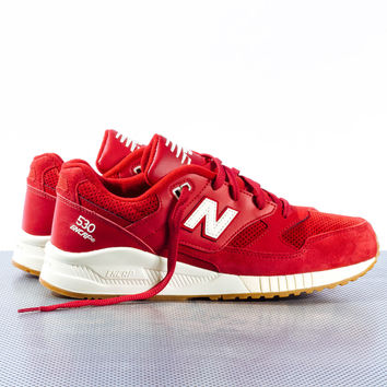 """New Balance 530 """"90s Running Solids"""" - Red"""