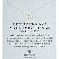 Women's Dogeared 'Reminder - Be The Person Your Dog Thinks You Are' Necklace