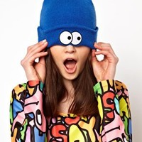 Lazy Oaf Eyeball Beanie Hat at asos.com