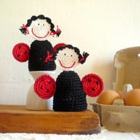 Crochet Ladybug Egg Cozy, Egg warmers- Set of 2