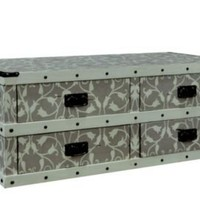 One Kings Lane - Classics with Character - Orson Trunk Coffee Table, Gray/White