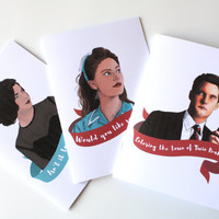 Twin Peaks Small Notebook - Shelly Johnson Audrey Horne Dale Cooper
