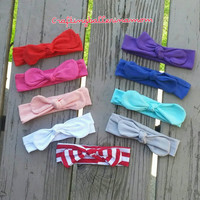 Top Knot Baby Headbands,cotton headband,head wrap,baby girl,toddler girl,teal,Pink,purple,Red,photo prop, 4th of July,first Birthday vintage