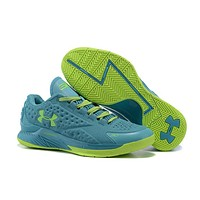 HCXX Men's Under Armor Curry 1 Low-Cup Basketball Shoes Green 40-46
