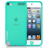 MiniSuit Bundle for iPod Touch 5 - Frost TPU Case, Screen Protector, Home Button Decal (Green)