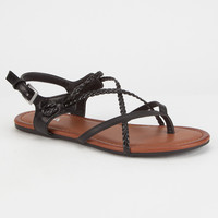 MIA Adrianna Criss Cross Braided Womens Sandals | Sandals
