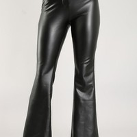 Leather Boot Leg Pants