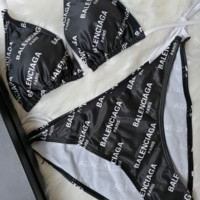 BAlENCIAGA New fashion more letter print straps two piece bikini swimsuit