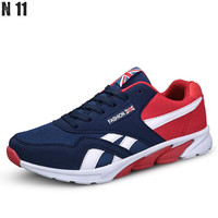 New 2016 Men Casual Shoes Spring Autumn Mens Trainers Breathable Flats Walking Shoes Zapatillas Hombre Walking Shoes Shoes Male