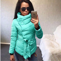 Cotton Winter Fashion Irregular Jacket [9378268996]