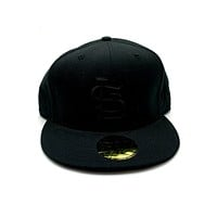 New Era 59FIFTY Basic ST. Louis Cardinals Blackout Fitted Hat