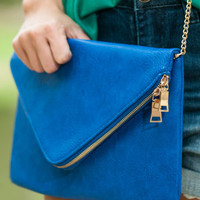 To The Point Purse, Royal Blue