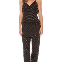 Karina Grimaldi Destiny Beaded Jumper in Black